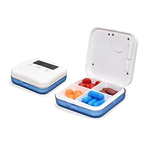 FD-FLY88 Weekly AM/PM Pill Box, 2nd Gen Portable Travel Pill Organizer with Moisture-Proof