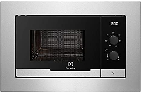 Electrolux EMM20117OX Integrado 20L 800W Acero inoxidable - Microondas (Integrado, 20 L, 800 W, Giratorio, Acero inoxidable, LED)