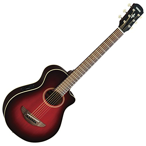 Yamaha APXT2 3/4-Size Acoustic-Electric Guitar with Gig Bag, Dark Red Burst
