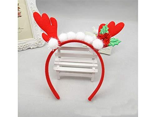 Bambini Lovke Una Festa Fascia Buona Copricapo Della Di Per Decorazione Natale Hairband Hairball Palchi rosso Natale Pqx1d0Od