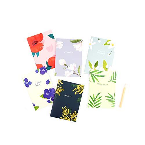 - GRACEBELL Flower Blossom Mini Notebook/Journal/Diary Set- 3.5