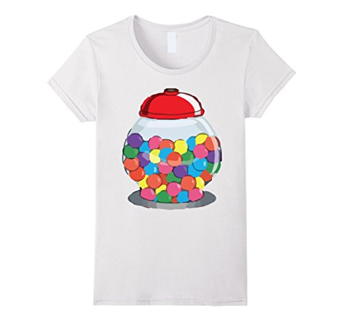 Womens Gumball Machine Bubblegum Halloween Costume T-Shirt Large White