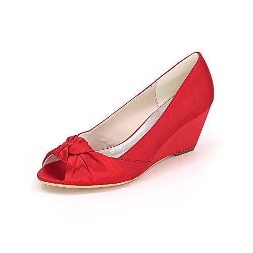 scarpe banchetti Pendenza confortevole scarpe damigella da scarpe donna gules tacchi Dancing con alti vestono Qingchunhuangtang wAdHxtYH