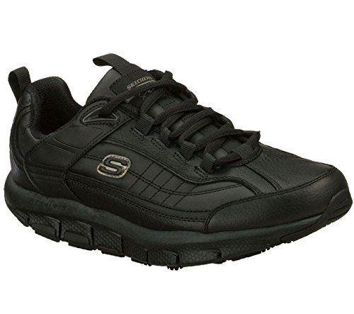 Skechers Men's Liv SR - Brawny Black Leather 10 EW by Skechers