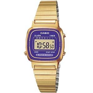 CASIO La670Wega-6Ef – Reloj de Mujer de Cuarzo, Correa de Acero Inoxidable Color Oro