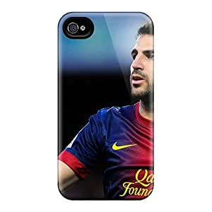 EOV Case Cover Protector Specially Made For Iphone 4/4s Barcelona Francesc Fabregas Is Thanking The Fans