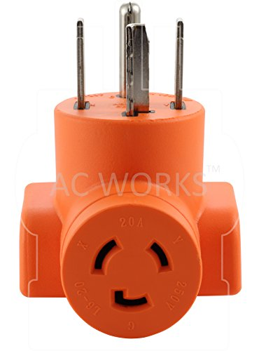 AC WORKS [AD1430L620] Dryer Outlet Adapter NEMA 14-30P 30Amp Dryer Outlet to L6-20R 20Amp 250Volt Locking Female Connector by AC WORKS (Image #3)