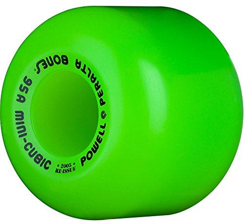 シマウママウントバンク柔和Powell Peralta Mini Cubic Skateboard Wheels 64mm 95A (Green) by Powell-Peralta