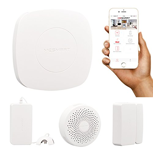 MESMART Smart Automation Monitoring Kit Gateway (Home Hub+Water Leak+Gas Leak+Door Sensor) Contact Magnetic Detector Alarm Zigbee Wireless App Control Compatible with Amaozn Alexa by MESMART