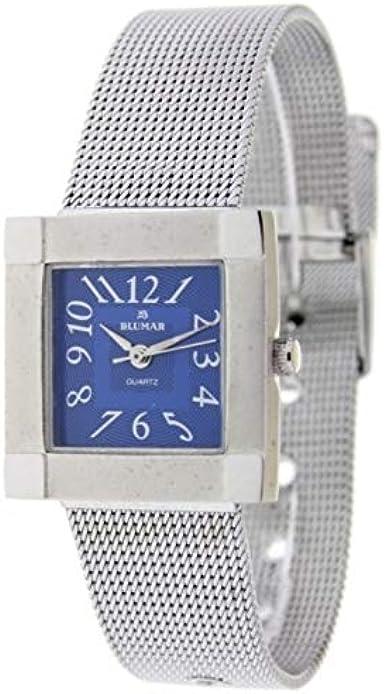 Blumar Bl-09707 Reloj Analogico para Mujer Caja De Metal Esfera Color Azul