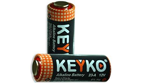 A23 Battery 12V Alkaline 55 mAh -10-Pcs Pack - for Garage Doors Opener, Ceiling Fans & Wireless Doorbells Remotes Type: 12 Volt MN21 23GA 21/23 GP23AE A23G A23S MIYAK (10)
