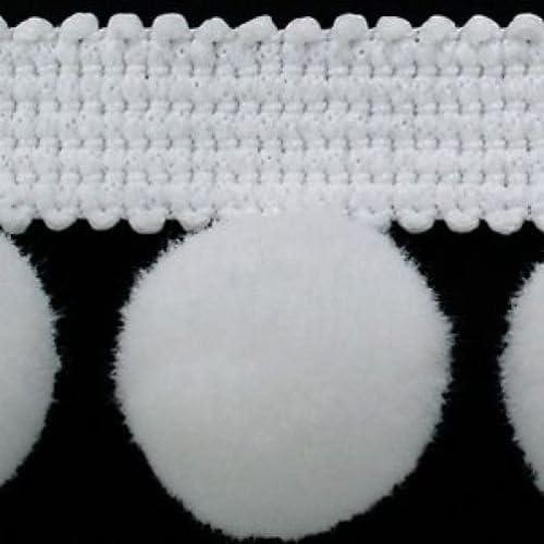 """#C GREY XL SIZE 2cm 1M POM POM BOBBLE TRIM FRINGE 0.8/"""" BEST QUALITY!"""
