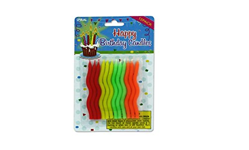 Spiral birthday candles, Case of 144 by bulk buys