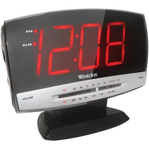 Westclox 80187A Tech Large Display Clock Radio (Westclox 80187A)