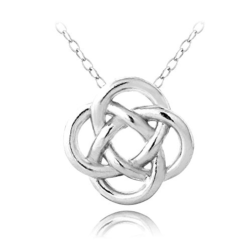 Hoops Loops Sterling Silver Necklace