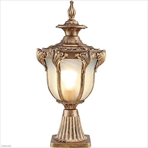 (ZDYLL Contemporary Exterior Pillar Lantern Lamps Luxury Elegant European Column Headlights IP65 Waterproof Aluminum Glass Post Lights Outdoor Porch Pole Lighting Garden Fence Entrance)