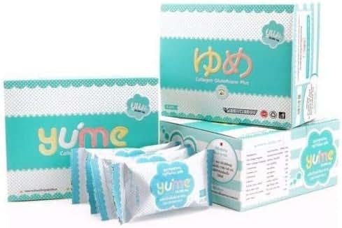 5 Box YUME PLUS FISH COLLAGEN GLUTATHIONE DRINK 16000 MG HEALTHY WHITENING SAVE