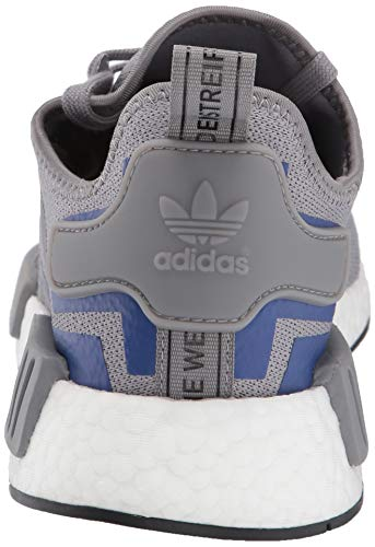 adidas Originals Men's NMD_R1 Running Shoe Grey/Active Blue, 4 M US by adidas Originals (Image #2)