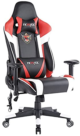 Ficmax Large Size Ergonomic Office Desk Chair PC Gamer with Massaging Lumbar Support, (Gamers Chairs For Pc)