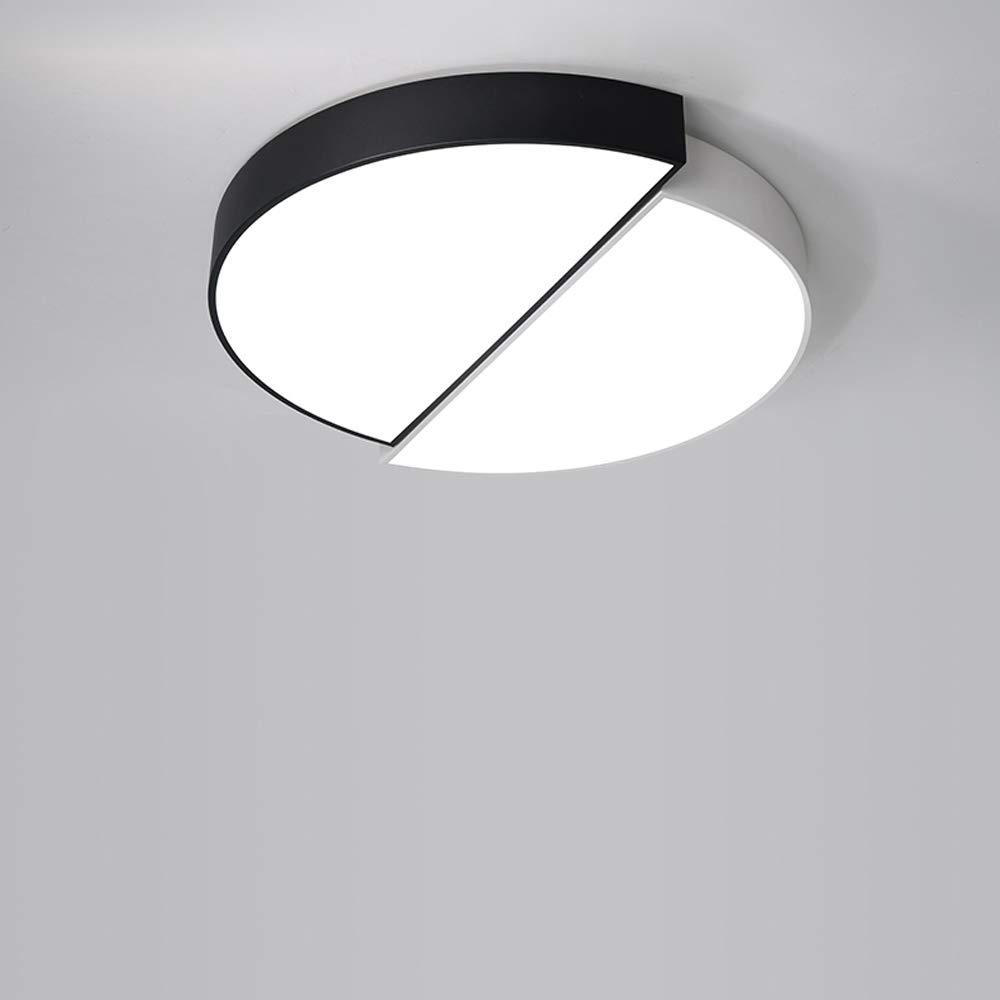 Mogicry Energiesparendes Halbkreis-Schlafzimmer-Deckenleuchte-Persönlichkeits-Legierungs-Acryl-Handelsbeleuchtungs-LED-Glaslampen-Mode-variable Licht-Haushaltschwarzweiss-umweltfreundliche Beleuchtung