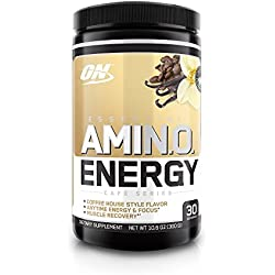 Optimum Nutrition Amino Energy with Green Tea and Green Coffee Extract, Flavor: Iced Vanilla Latte, 30 Servings