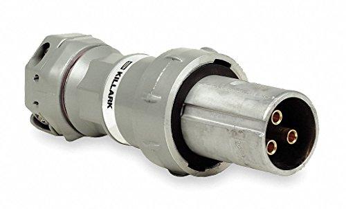 Killark VP10487 Pin and Sleeve Plug, 3 Wire, 4 Pole, 100 Amp, 600V, Copper-Free Aluminum