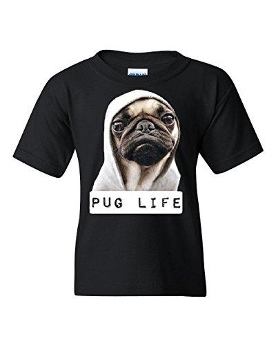 Pug Life (Pug Life Funny Youth T-Shirt Dope Thug Life Dog Parody Hipster Tee Black M)