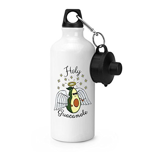 hiusan Holy Guacamole Sports Water Bottle White Novelty Aluminum Water Bottle for School Gym Camping by hiusan
