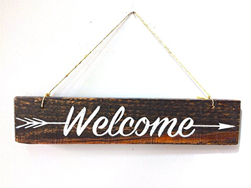Welcome Sign For Front Door, Welcome Door Sign, Wreath Welcome Sign, Pallet Wood Welcome, Wreath Sign, Front Door Sign, Rustic Welcome Sign
