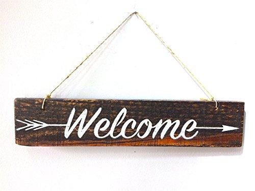 Welcome Sign For Front Door, Welcome Door Sign, Wreath Welco