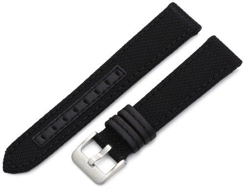 Hadley-Roma Men's MSM848RA 200 20-mm Black Genuine 'Kevlar' Watch Strap