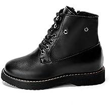 Baqijian Women Low Heels PU Lace-Up Pumps Shoes Rivet Style Shoes Woman Pumps Black Ladies Ankle Boots Party Shoes Noki