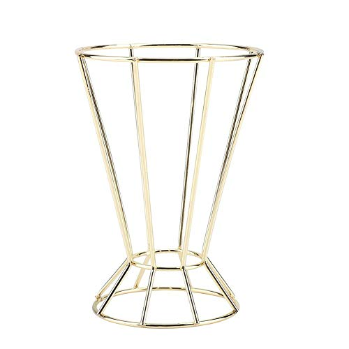Iron Octagonal Geometric Tower-Shaped Plant Stand Flower Hanger Garden Plant Rack (Gold)