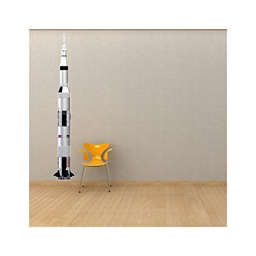 (Saturn V Rocket - Extra Large 6 foot Tall Wall Decal - 72
