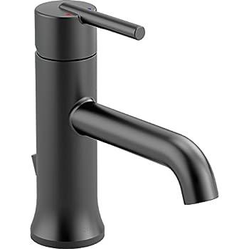 Delta 567LF-BLMPU Ara Single-Handle Bathroom Faucet with Metal Drain ...