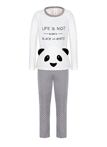 DOYOMODA Spring Womens Sleepwear Polar Fleece Long Sleeve Lounge 3D Panda Pajamas Set (Small, (Long Sleeve Polar Fleece Top)