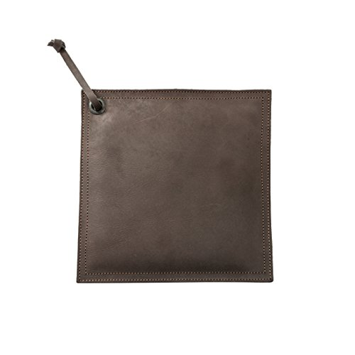 Leather Hot Pot Pad (Potholder), Double Layered, Double Stitched and Handmade by Hide & Drink :: Espresso by Hide & Drink