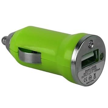 Pequeño verde Xylo-Bullet USB cargador de coche adaptador ...