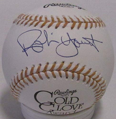 Robin Yount Autographed MLB Gold Glove Logo Baseball Signed - '82 '89 Mvp - Certified ()