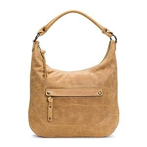 FRYE Melissa Zip Leather Hobo Handbag