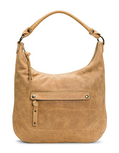 Hobo Handbag FRYE Leather Zip Melissa Beige q7xHpItw