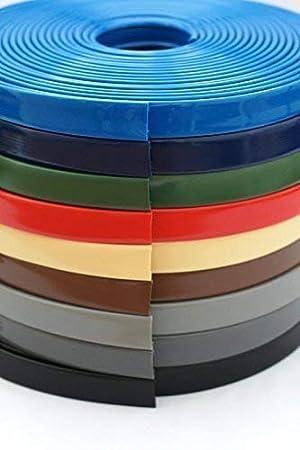 10m PVC Handlauf Treppenhandlauf Kunststoffhandlauf 40x8 mm gr/ün