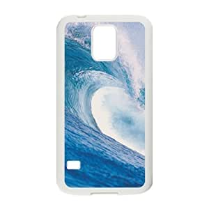 Best Slim Big Ocean Surf Waves, Sea Surfing Waves Design Case Cover for Samsung Galaxy S5 SV For Impact Protection Super Fit Samsung Galaxy S5 SV PC(Laser Technology) -