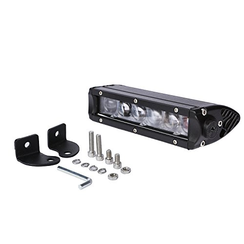 Aellons 4D Lens 5W Cree Single Row Led Light Bar Working Light Driving Light Bar Waterproof Dustproof Light for Off-Road and Other Vehicles