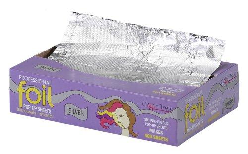 SBS Color Trak Foil Pop-Up Sheets, Silver, 200ct (Pack of 3)