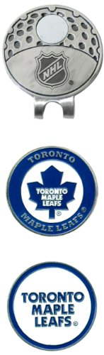 Team Golf NHL Toronto Maple Leafs Golf Cap Clip with 2 Removable Double-Sided Enamel Magnetic Ball Markers, Attaches Easily to Hats ()
