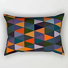 Geometry Cushion Cases Best For Living Room Divan Lounge Girls Wedding Office 16 X 24 Inches / 40 By 60 Cm(twin Sides)