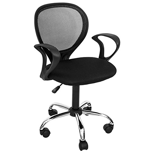 Modern Luxe Swivel Mesh Office Desk Task Chair with Armrest (Black) by Modern Luxe