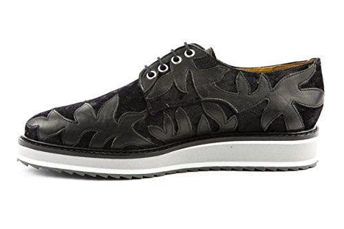 Melvin & Hamilton - Zapatos de cordones de Lona para mujer negro negro 37