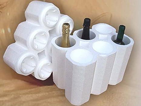 3c0ea7beff Imballaggio protettivo in polistirolo universale per 6 bottiglie(  confezioni da 30pz)